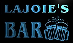 w009702-b LAJOIE Name Home Bar Pub Beer Mugs Cheers Neon Light Sign
