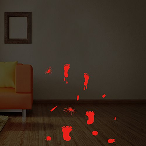 XUEXUE Halloween Mural,Glass Sticker,Hand Print,Foot Print,Bedroom Living Room,Art Decor,Wallpapers, Wall Decal, Sticker, Self Adhesive Paper,B -
