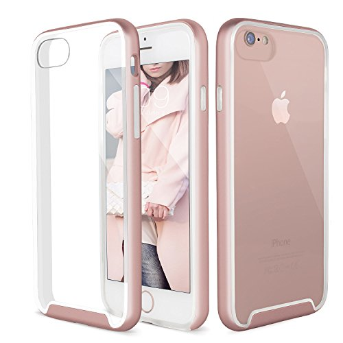 Mobility Element iPhone 7 Case - Best Case for iPhone 7 - Premium Cover Provides Ultimate Protection From Drops, Scratches, and Impacts - Transparent Back With Sleek Color Options - Rose Gold/Clear