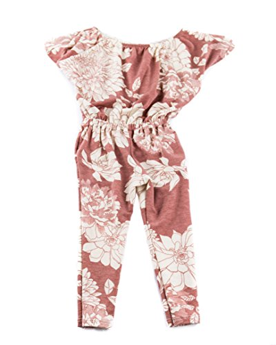 Price comparison product image Bella Rose Playwear Ultra Soft Knit Cropped Jumpsuit in Pink Floral Made in USA Size 6X (6X)
