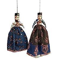 Laxman Art Rajasthani Handcrafted Handmade Kathputli / Puppet Pair for Home Decor