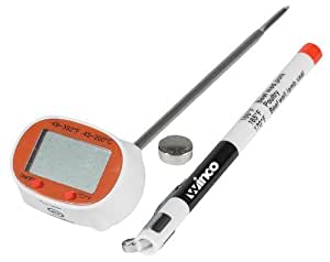 Winco 1-1/2-Inch by 1-Inch Dial Digital Thermometer with 4-3/4-Inch Probe by Winco