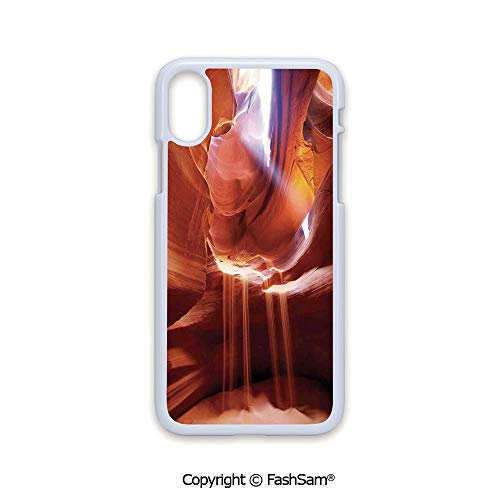 Phone Case Compatible with iPhone X Black Edge Ocean and Sky View from Inside The Rock Cavern Mediterranean Sea Photo 2D Print Hard Plastic Phone Case ()