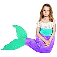 BATTOP Mermaid Tail Super Soft Blanket Crystal Velvet...