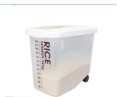 fuentes de la cocina estante decaimiento del molde de arroz cubo de plástico 12KG cubo de arroz para enviar caja ...