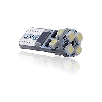 Zesfor® Bombilla LED CANBUS w5w / t10 Cerámica - Tipo 13: Amazon.es: Coche y moto