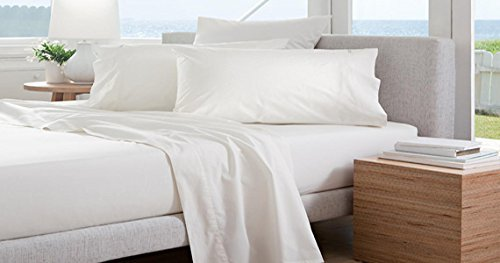 """Atlas 1-Piece Flat Sheet, FULL XL Size 81""""x115"""". White, T180, Hotel, Bed & Breakfast, Condo, Rentals, Home, Hospitals, Churches, Retirement Homes, Clinics, Chiropractors, Bulk Packed - by"""