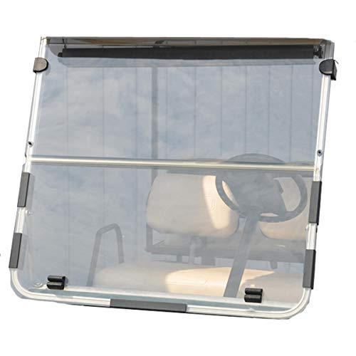 (Folding Acrylic Golf Cart Windshield for Club Car DS 1982-2000 Tinted Fold Down Windshield )
