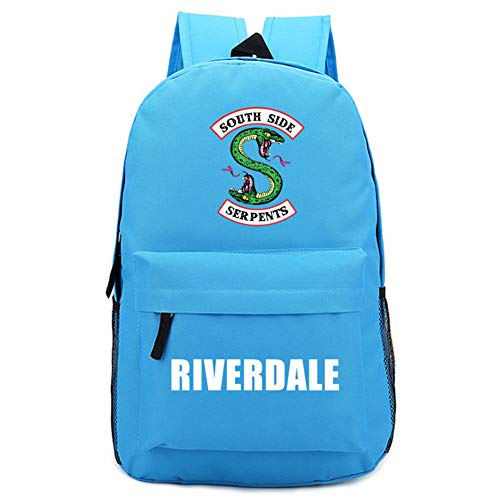 - DeLamode Riverdale South Side Backpacks Shoulder Student Serpents Bags SkyBlue