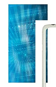Samsung Galaxy S5 patterns abstract parallax blue39 PC Custom Samsung Galaxy S5 Case Cover White