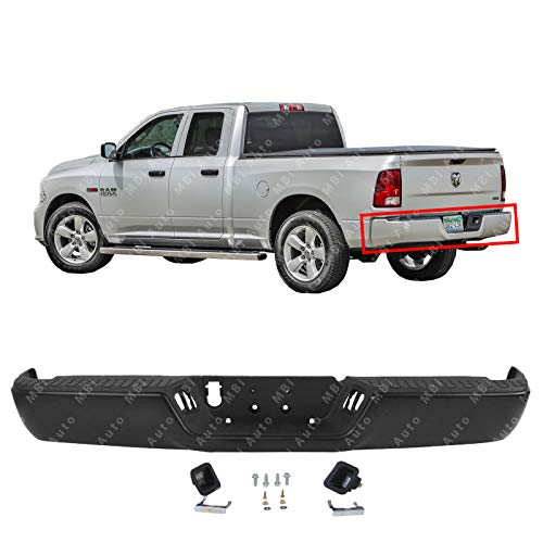 Steel Bumpers Trucks (MBI AUTO - Primered Steel, Rear Bumper Assembly for 2009-2018 RAM 1500 Pickup 09-18, CH1103120)