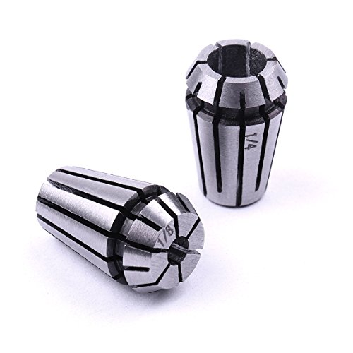 Atoplee 1/8 inch and 1/4 inch Er11 Spring Collet Set for CNC Engraving Machine & Milling Lathe (Cnc Set)