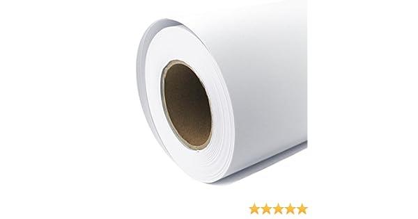 Rollo de papel para plóter Mate 128 g/m², 61 cm x 30 m A1 A2 Inkjet Your Design gestrichenes Papel universal impermeable, adecuado para tintas de colores y pigmento: Amazon.es: Oficina y