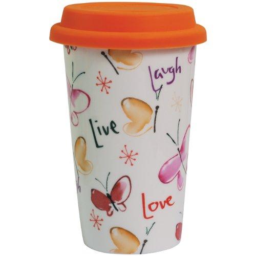 Kathy Davis Live, Laugh, Love 12-Ounce Ceramic Travel Mug