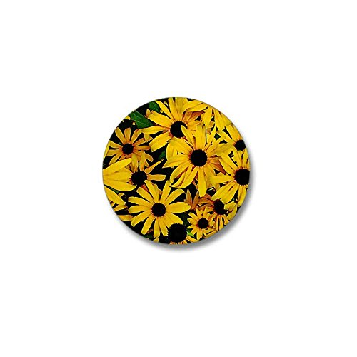 CafePress - Field of Black Eyed Susans Mini Button - 1