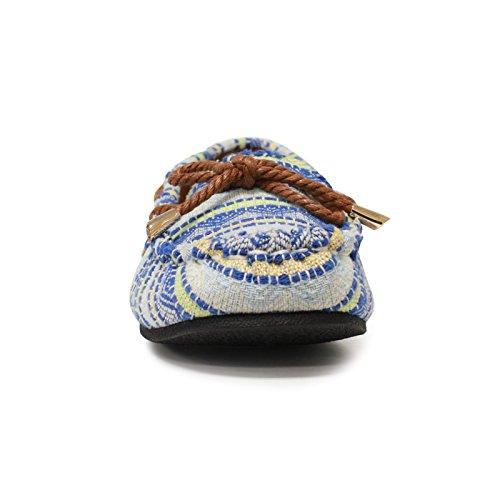 Moccasin Chestnut Lamo Women's Shoe Island Ii Moc Sabrina Blue FXF6Y
