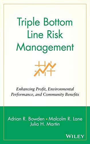 (Triple Bottom Line Risk Management:  Enhancing Profit, Environmental Performance, and Community Benefits)