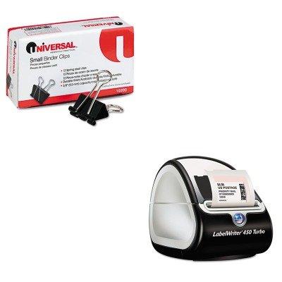 KITDYM1752265UNV10200 - Value Kit - Dymo LabelWriter Turbo Printer (DYM1752265) and Universal Small Binder Clips (UNV10200) by Dymo