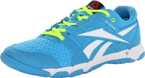 Reebok Schoeisel Womens One Trainer 1.0 Cross-training Schoen Blauw Knipperend / Wit / Neon Geel / Uitstekend Rood / Zwart