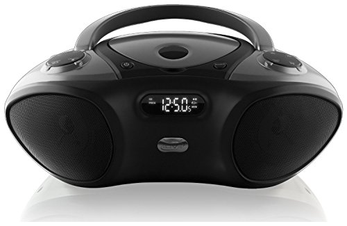 iLive ILIVE-IBC233B Bluetooth Boombox with CD player and FM