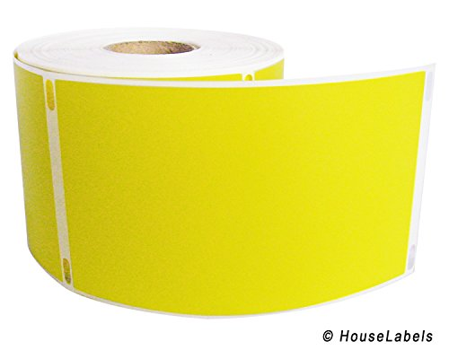 """1 Roll; 300 Labels per Roll of DYMO-Compatible 30256 YELLOW Large Shipping Labels (2-5/16"""" x 4"""") -- BPA Free!"""