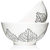 LoveMyBigBowl. 28oz 7 inch bowls for serving individual salad, soup, pasta, noodles, cereals. Microwave safe easy clean set of 2.