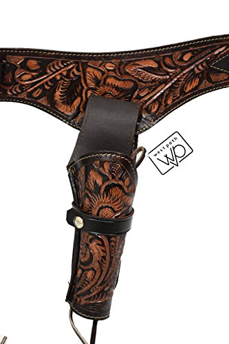 - Open Road Goods 44/45 Caliber Leather Gun Holster - Authentic Handmade Waist Size 48 - Brown