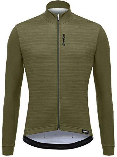 (Santini Classe Long-Sleeve Jersey - Men's Green, M)