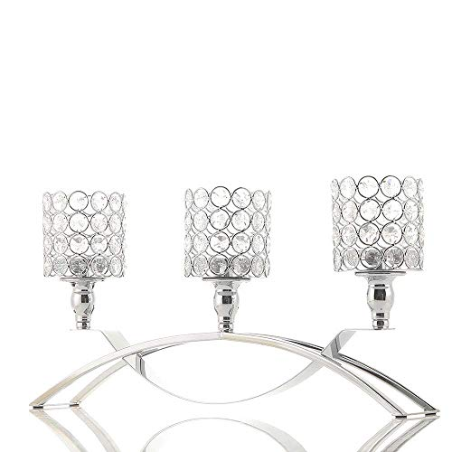 VINCIGANT Silver 3 Candle Candelabra for Housewarming Fireplace Wedding Table Centerpieces, Home Decor Accents