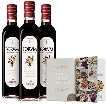 Forvm Cabernet, Vinagre de Vino Tinto, Fantástico para Cocinar, Usado 12 Años en el Menú de los Premios Nobel, Envejecido Artesanalmente 8 Años en Barricas, Producción Limitada, Botella Cristal, 500ml
