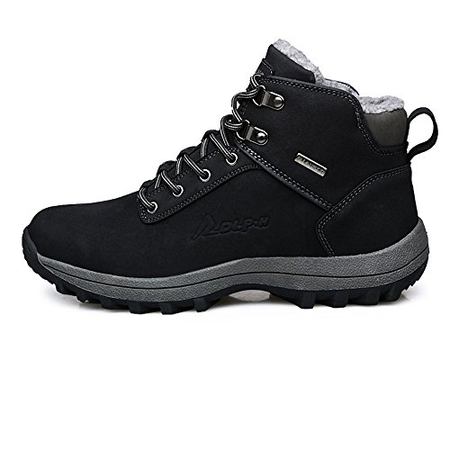 YZHYXS Mens Boots Winter Waterproof Leather Outdoor Hiking Shoes Black Brown Black m8A8pTr0