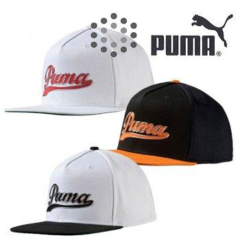 PUMA プーマ Script Snapback スクリプト スナップバック キャップ 052958 USA仕様 ホワイト/ブラック,フリーサイズ
