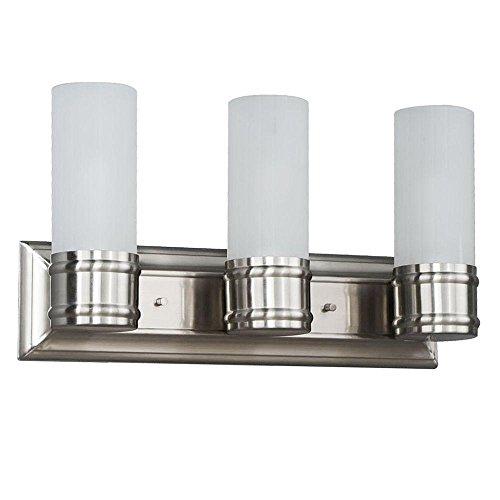 3-Light Brushed Nickel Vanity Wall Fixture