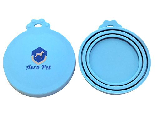 Aero Cover (Aero Pet Can Covers | 2 Pack | Universal BPA Free Silicone Pet Food Can Lid Covers | One Size Fits All Standard Size Dog and Cat Can)