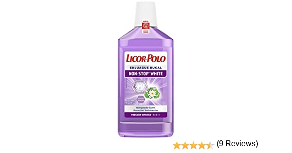 Licor del Polo Non-Stop White Enjuague Bucal - 500 ml: Amazon.es ...