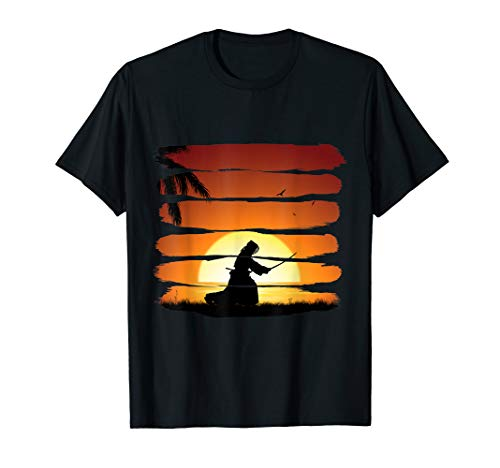 Kendo Japanese Martial Arts Cool Sunset Training Picture T-Shirt