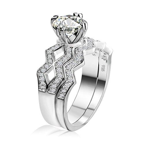6a644ac23f83 Outlet Anillo Mujer Zircon Titanio Crystal Clásico Adornos Chapado en oro  Piedra Mampostería Blanco plateado Personalidad