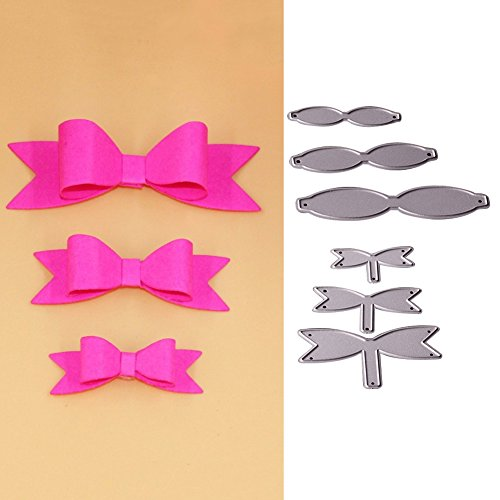 Die Ribbon - Bluelans Cutting Dies Stencil Metal Mould Template for DIY Scrapbook Album Paper Card Craft (Ribbon Bows Cutting Dies)