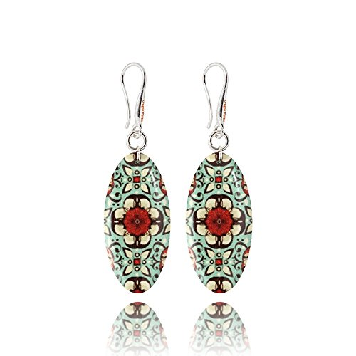 - Classy Almond Shape Burgundy Gray Color Combination Jewelry Earrings for Everyday for Business Woman