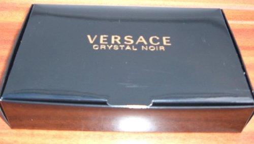 CRYSTAL NOIR by Versace 3 PIECE Gift Set - 0.17 OZ EAU DE TOILETTE NEW Box Women
