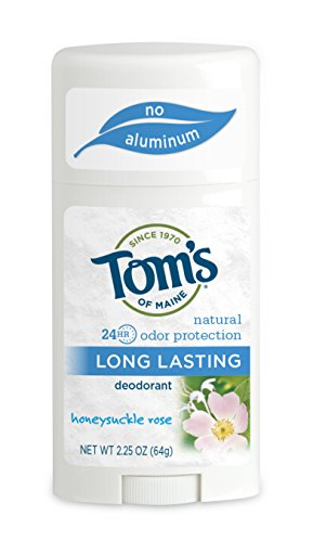 Tom's of Maine Natural Deodorant Stick, Aluminum Free, Long Lasting, Honeysuckle Rose, 2.25 Ounce