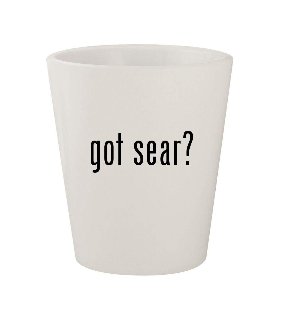 got sear? - Ceramic White 1.5oz Shot Glass