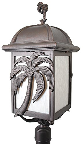 Melissa Lighting PT2990 Tropical/British Colonial Outdoor Post Lantern from Palm Tree Series Collection in Bronze/Darkfinish