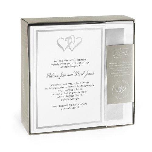 Hortense B. Hewitt Wedding Accessories Silver Double Heart