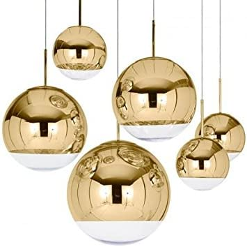 Extra Large Mirror Ball Pendant Lamp Gold
