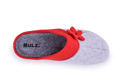 White House Womens Outdoor Europe Indoor Wool Shoes in Slippers Mulz Red and Made PaxnqOwOT5
