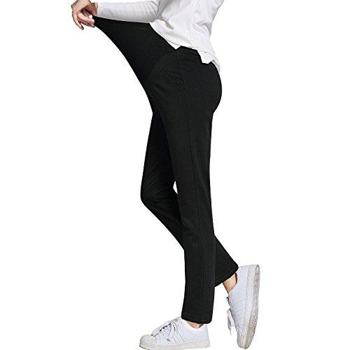 50e8255ce3139 JOYNCLEON Womens Maternity Work Pants Straight Leg Pregnancy Casual Trousers  for Pregnant Women