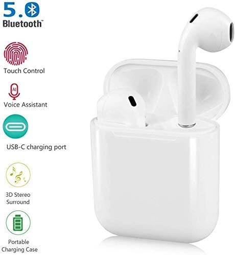 Bluetooth Earbuds, i11 Pop-up Bluetooth Headset Bluetooth 5.0 Stereo Hi-Fi Sound IPX5 Waterproof Headphoness with Charging Case for Android/iPhone/Samsung