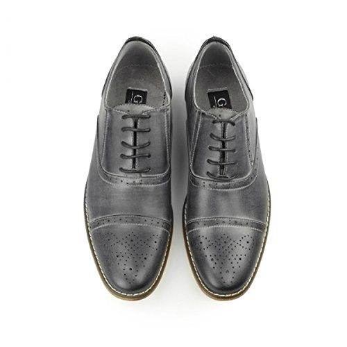 Mr Brogue Shoes Herren Grau Schnürhalbschuhe 8v8rwH