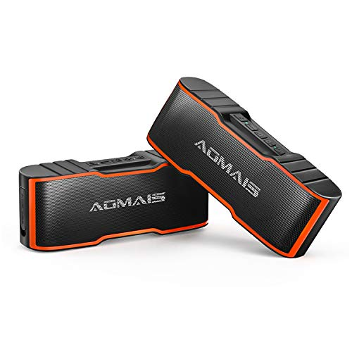 AOMAIS Sport II Mini Portable Bluetooth Speakers – 2 Packs Wireless Dual Stereo Pairing, HD Sound and Enhanced Bass, 15 Hours Playtime, IPX4 Water-Resistant Speakers for Travel, Beach, Shower